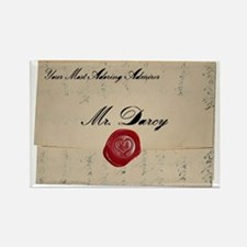 Mr Darcy Love Letter Rectangle Magnet