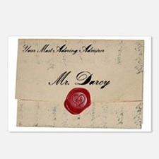 Mr Darcy Love Letter Postcards (Package of 8)