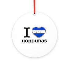I love Honduras Ornament (Round)