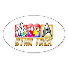 Peace Love Star Trek Decal