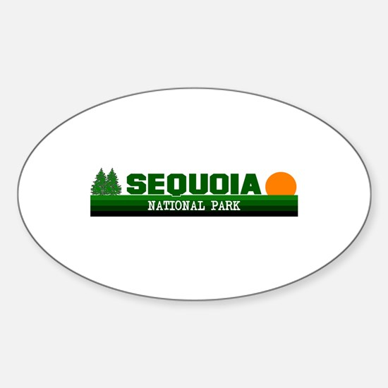 Sequoia National Park Oval Decal