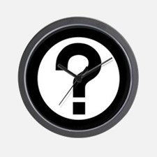 Question Mark Icon Wall Clock