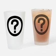 Question Mark Icon Drinking Glass