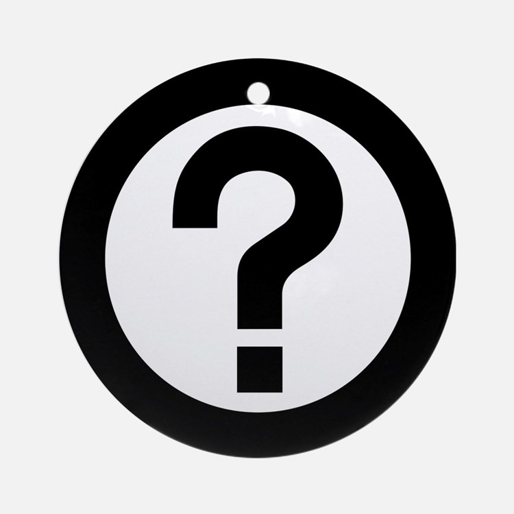Question Mark Icon Ornament (Round)