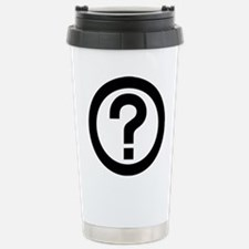 Question Mark Icon Travel Mug