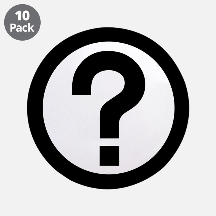 "Question Mark Icon 3.5"" Button (10 pack)"