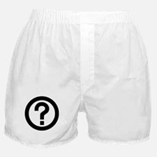 Question Mark Icon Boxer Shorts