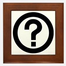 Question Mark Icon Framed Tile