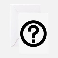 Question Mark Icon Greeting Card