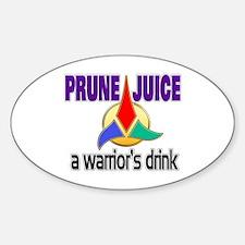 Worf Prune Juice Sticker (Oval)