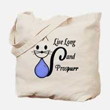 Vulcan Greeting Kitty Tote Bag