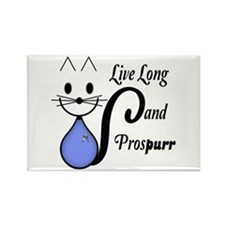 Vulcan Greeting Kitty Rectangle Magnet