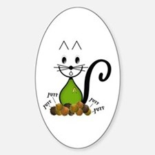 Trouble with Tribbles Cat Sticker (Oval)