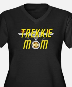 Trekkie Mom Women's Plus Size V-Neck Dark T-Shirt