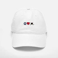 Peace Love Hockey Baseball Baseball Baseball Cap