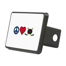 Peace Love Hockey Hitch Cover