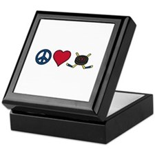 Peace Love Hockey Keepsake Box