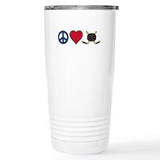 Peace Love Hockey Travel Mug
