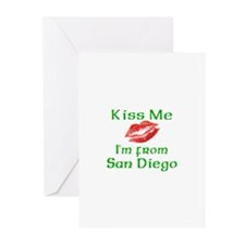 Kiss Me I'm from San Diego Greeting Cards (Package