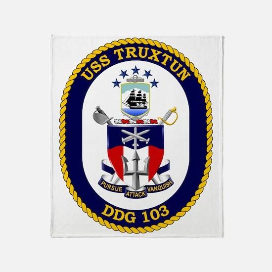 Uss Truxtun Ddg-103 Throw Blanket