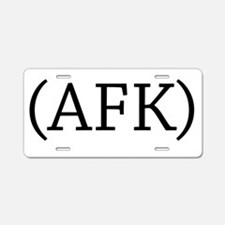 Away From Keyboard Aluminum License Plate