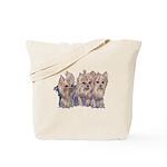 3 Little Yorkies Tote Bag