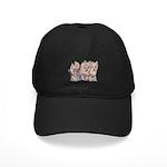 3 Little Yorkies Black Cap