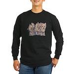 3 Little Yorkies Long Sleeve Dark T-Shirt