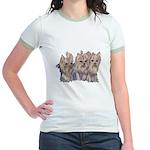 3 Little Yorkies Jr. Ringer T-Shirt