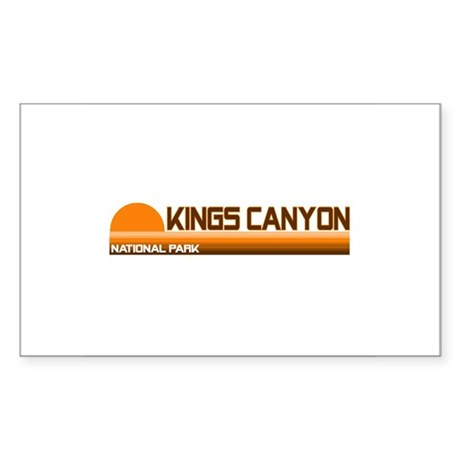 Kings Canyon National Park Rectangle Sticker