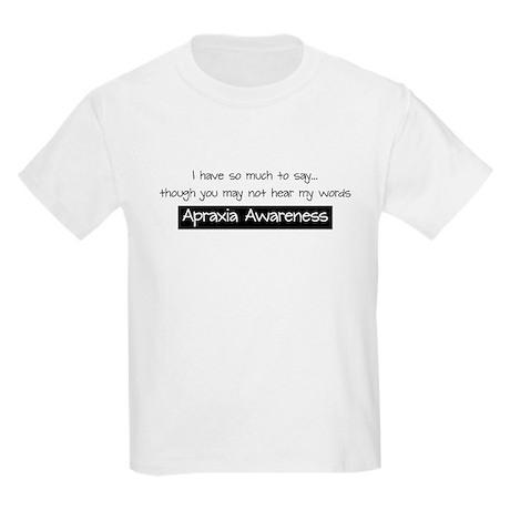 Apraxia Awareness - Kids Light T-Shirt