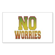 No Worries Rectangle Decal