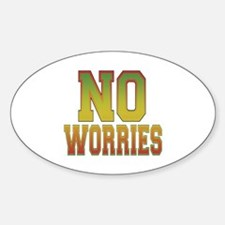 No Worries Oval Decal
