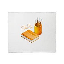 Letter Opener Writing Book Throw Blanket