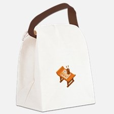 Chinese Books Pencil Table Canvas Lunch Bag