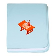 Chinese Books Pencil Table baby blanket