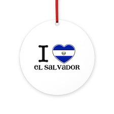 I love El salvador Ornament (Round)
