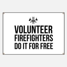 Volunteer firefighters free Banner
