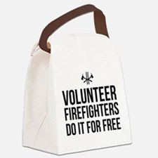 Volunteer firefighters free Canvas Lunch Bag