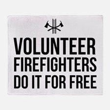 Volunteer firefighters free Throw Blanket