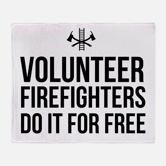 Volunteer firefighters free Throw Blanket