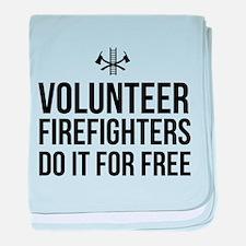Volunteer firefighters free baby blanket