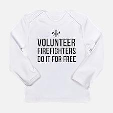 Volunteer firefighters free Long Sleeve T-Shirt