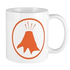 Science badge: active volcano is my research Mugs