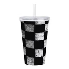 Checkered Flag Acrylic Double-wall Tumbler