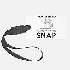 Warning may snap photographer Luggage Tag