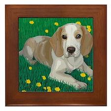 Beagle Bliss Framed Tile