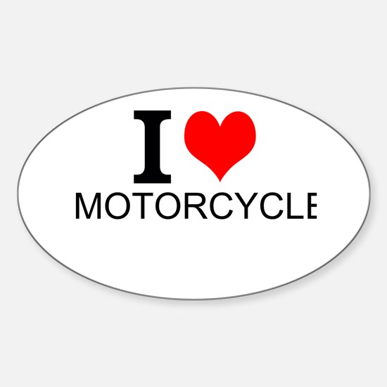 I Love Motorcycles Decal