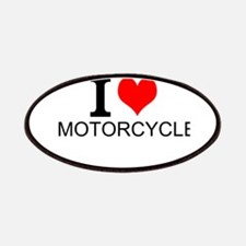 I Love Motorcycles Patches