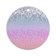 Glitter Star Dust 11 Ornament (Round)